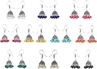 aea06c99b4216 Amazon.in: Oxidised Silver - Earrings / Women: Jewellery