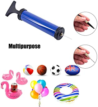 Pro Sports Ball Tool, Ball Pump Air Pump with Inflation Needle Nozzles and Rubber Hose - Accurate Inflation - Basketb...