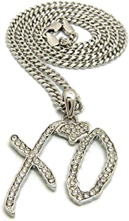 Mens Iced Out XO Gang Hip Hop Pendant 24