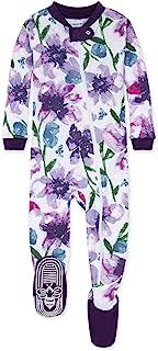 Baby Girls Pajamas, Zip Front Non-Slip Footed Sleeper...