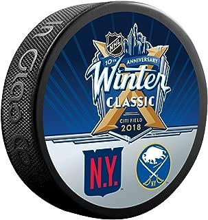 Sherwood 2018 Winter Classic New York Rangers vs. Buffalo Sabres Dueling Souvenir Puck