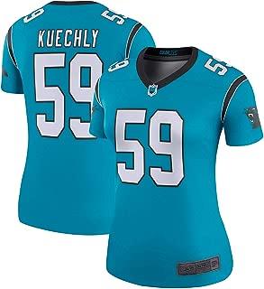 SF21 Custom Jersey Women's #59 Kuechly Panthers Luke Blue Legend Jersey Sportswear T-Shirt