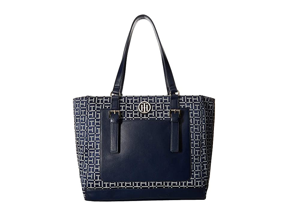 Tommy Hilfiger Imogen Tote (Navy/White) Handbags
