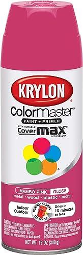 Krylon K05357100 Spray Paint, 12oz, Mambo Pink
