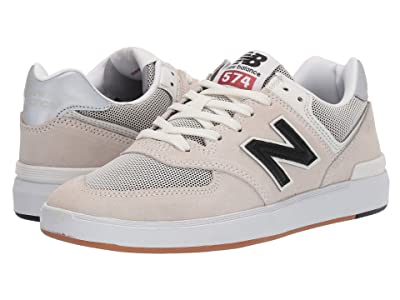 New Balance Numeric AM574 (White/Black) Men