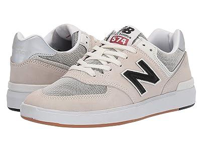 New Balance Numeric AM574 (White/Black) Men