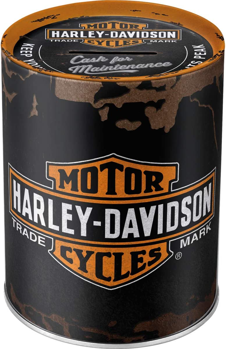 Nostalgic-Art 31001 Attention brand Harley-Davidson-Logo Money Box Department store 13 cm 10 x