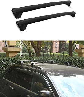 CUMART Jeep Grand Cherokee Roof Rack Cross Bars Luggage Locks 2011 2012 2013 2014 2015 2016 2017 2018 2019 Black (Fit For Limited and Overand Only)