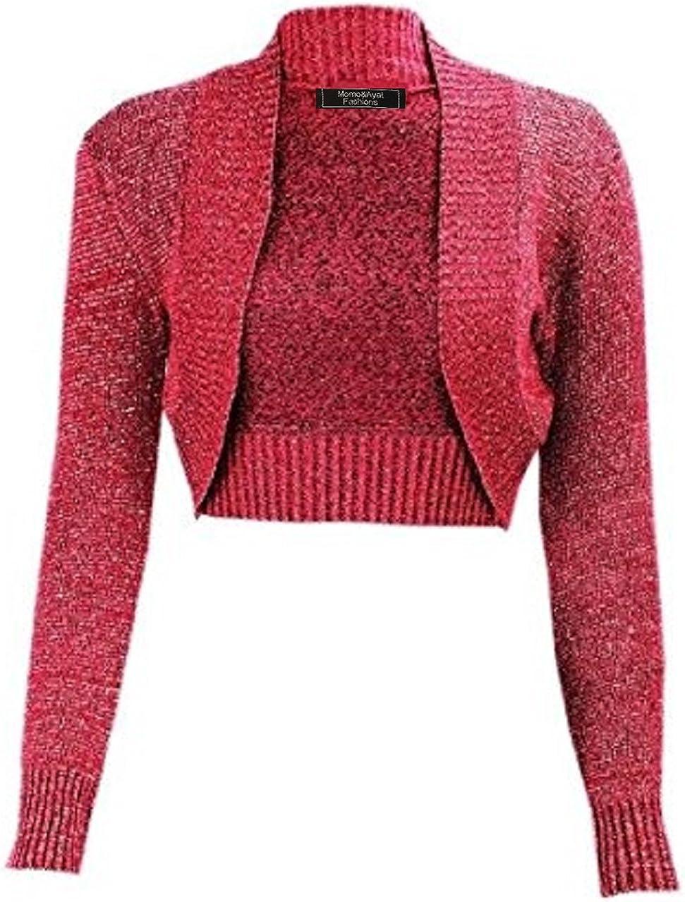 in lurex metallizzato Momo/&Ayat Fashions taglia 40-56 Coprispalle da donna a costine