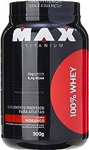 100% Whey Protein - 900g Morango - Max Titanium, Max