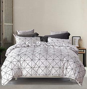 Moderne Mako Satin Bettwasche Geometrisch 15