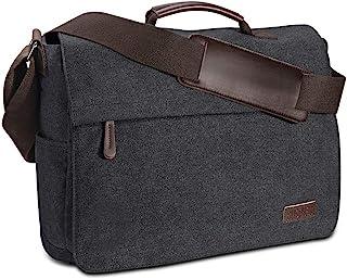 Ruschen Umhängetasche Herren aus Vintagem Segeltuch, Premium Herrentasche, Laptoptasche für 15,6 Zoll Laptop, Schultertasche / Kuriertasche / Messenger Bag von Ruschen