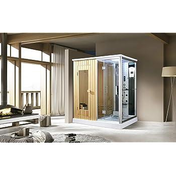 Trade-Line-Partner - Ducha de Vapor (170 x 120 cm, Incluye función de Sauna): Amazon.es: Hogar