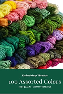 Embroidery Thread Embroidery Floss Rainbow Color String for Friendship Bracelets 100 skeins Cross Stitch Threads