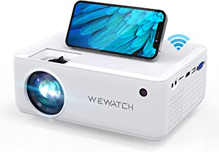 WEWATCH V10 100 ANSI Lumens 5500L LED Portable Projector,...