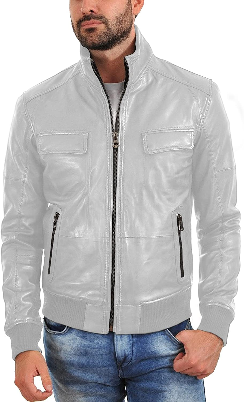 Laverapelle Men's Sale item Genuine Lambskin Black Leather Bomber Jacket outlet