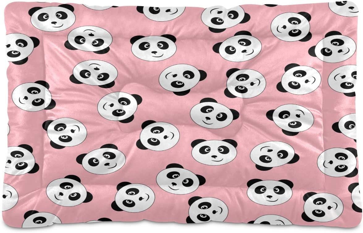 STAYTOP Max 41% OFF Cute Max 90% OFF Black and White Panda Pet Non-Slip Wash Smile Beds