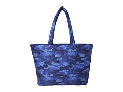 Baggallini Quilted Tote (Blue Camo) Handbags