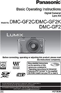 Panasonic Lumix DMC-GF2 Instruction Booklet - Original English Owner User Operation Manual (Printed)