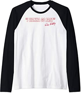 Talladega Nights I Wanna Go Fast Ricky Bobby Signature Raglan Baseball Tee