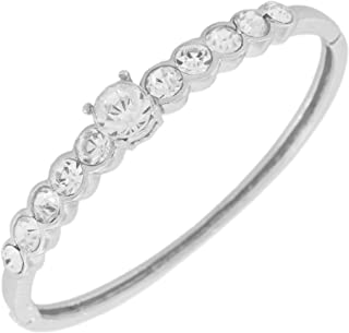 Touchstone Indian Bollywood Enchanting sleek Bracelet Hand Crafted Rhinestone Crystal in Gold or Silver Tone for Women.