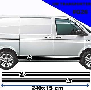 Best Racing 'n' Stripes de Vinilo Adhesivo para Volkswagen Transporter, líneas Laterales, Color Negro