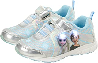 Disney Girls' Frozen Sneakers - Laceless Light-Up Running Shoes (Toddler/Little Girl)