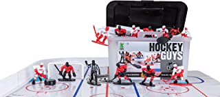 Kaskey Kids Blackhawks vs Red Wings NHL Hockey Guys Action Figure Set – 27 Pieces and Accessories