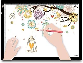 HUION A3 Planche à Dessin Lumineuse avec Tampon de lumière de traçage Boîte à lumière pour l'animation d'Artiste,Le Design...
