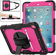 SEYMAC stock Case for iPad Air 3, [Full-body] Drop-Proof Protection Case with 360 Degrees Rotating Stand [Screen Protector...