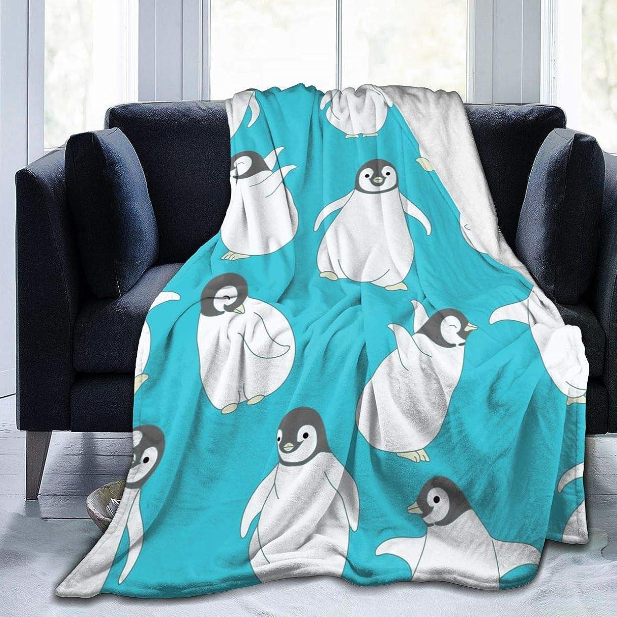 岩オールかける可愛い ペンギン 毛布 掛け毛布 ブランケット シングル 暖かい柔らかい ふわふわ フランネル 毛布 三つのサイズ