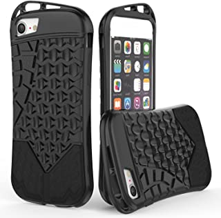 CoverON Trekker Series Fit iPhone 8 TPU Case, iPhone 7 TPU Case, Premium Sporty TPU Phone Cover with Hard Armor Plate and Clip Openings for Apple iPhone 8 / 7 - Black