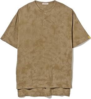 [ビームスライツ] Tシャツ バスケットダイ 鹿の子 ヘンリーネックTシャツ メンズ