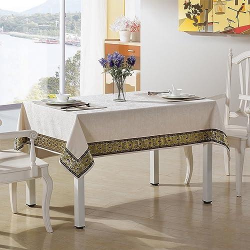 L&Y Tableware Rechteckige Chenille Material Tischdecke Tischdecke Hotel Tischdecke Sonnencreme Wasserdicht (Farbe   Lace Weiß, Größe   S)