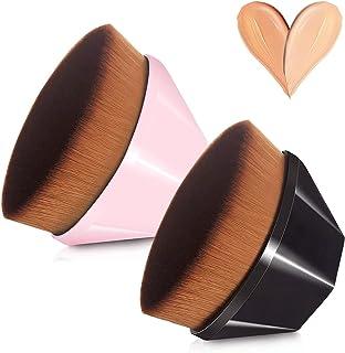 Foundation Makeup Brush, 2 Pack Endoto Flat Top Kabuki Face Brush Multifunctional for Blending Liquid, Cream or Flawless P...