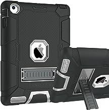 iPad 2 Case, iPad 3 Case, iPad 4 Case, BENTOBEN Kickstand Heavy Duty Rugged Shockproof High Impact Resistant Hybrid Three Layer Armor Full Body Protective Case for Apple iPad 2/3/4th Gen,Black/Gray
