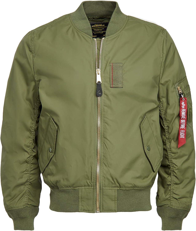 Alpha Industries Men's Ma-1 Skymaster Mid Length Zip Flight Jacket with Pockets