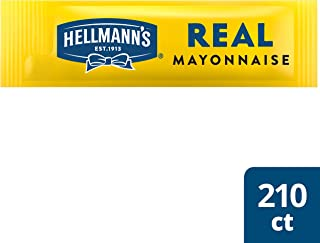 Hellmann's Real Mayonnaise Stick Packets Easy Open, Made with 100% Cage Free Eggs, Gluten Free, 0.38 oz, Pack of 210
