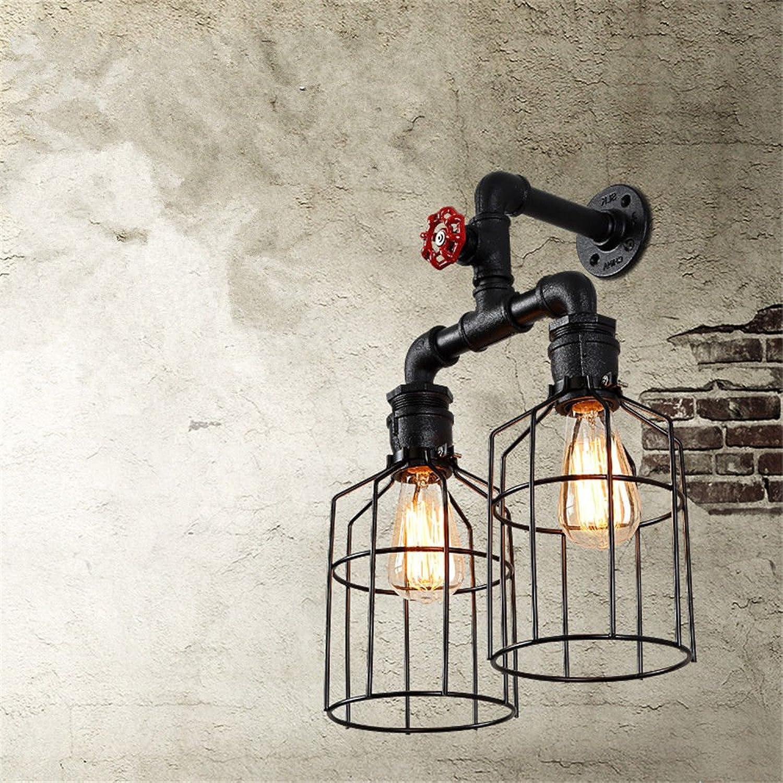StiefelU LED Wandleuchte nach oben und unten Wandleuchten Loft Cafe retro wall Light Industrial bar Wasser loft Kleidung double Wandleuchte Studie, 35  45  25 cm