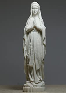 Madonna Santísima Virgen Madre María Señora Alabastro Estatua Escultura 8.66 pulgadas