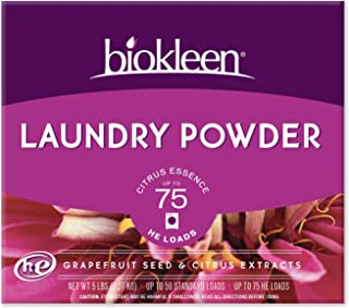 Biokleen Laundry Detergent Powder, Concentrated, Eco-Friendly, Non-Toxic, Plant-Based, No Artificial Fragrance, Colors or ...