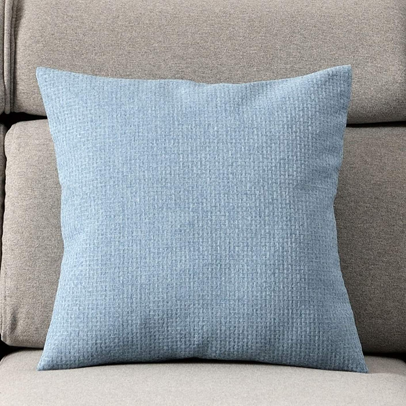 押すアーティファクト風邪をひく枕リネン枕リビングルームのソファクッションベッドヘッドレストチェア背もたれオフィス腰椎枕枕 JSFQ (Color : C, Size : 55cm*55cm)