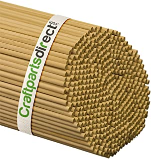 Craftparts Direct 1/4 Inch x 48 Inch Wooden Dowel Rods - Unfinished Hardwood Dowels for Crafts & Woodworking Bag of 25