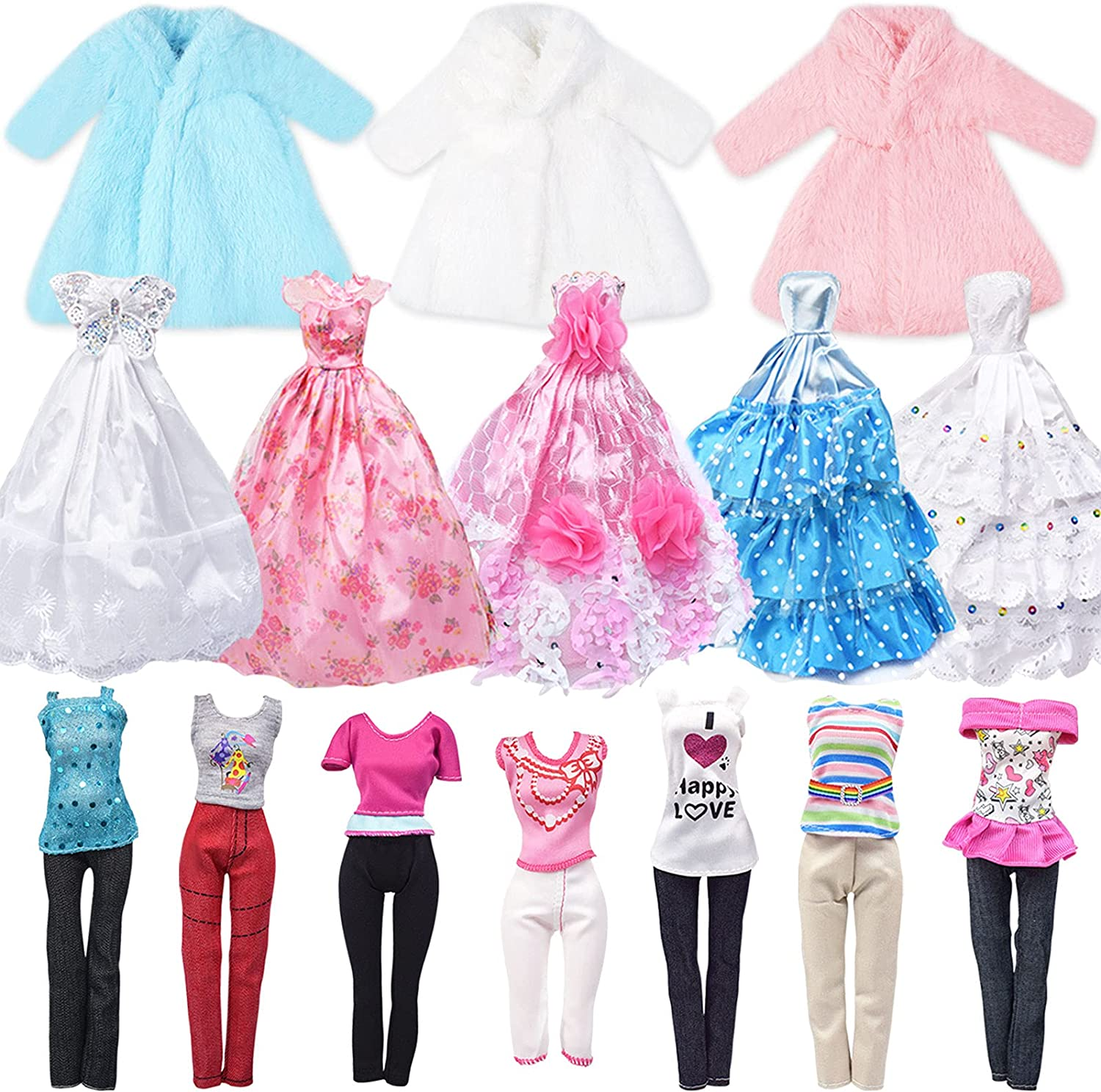 service YTSQLER Doll Clothes for Kids Quality inspection Accessori pcs and 35