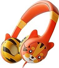 Kidrox Tiger-Ear Kids Headphones - Wired Headphones for Kids, Toddlers, 85dB Volume Limited, Adjustable Headband, Tangle Free Cable, Childrens Earphones on Ear, Toddler Headphones