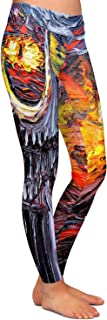 Athletic Yoga Leggings from DiaNoche Designs by Aja Ann - Van Gogh Never Lord of Rings Eye