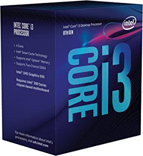 Intel Core i3-8100 BX80684I38100 - Coffee Lake Quad-Core 3.6GHz 6MB Smart Cache Caja procesador