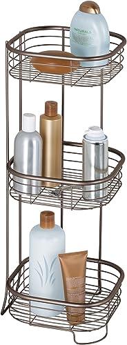 InterDesign Forma 3 Tier Shower Shelf-Rectangular, Bronze