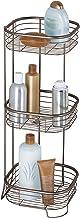 "iDesign Forma Metal Wire Corner Standing Shower Caddy, Bath Shelf Baskets for Shampoo, Conditioner, Soap, 9.5"" x 9.5"" x 2..."