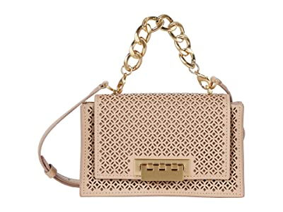 ZAC Zac Posen Earthette Chain Mini Top-Handle Crossbody Accordion Perforation (Wheat) Handbags